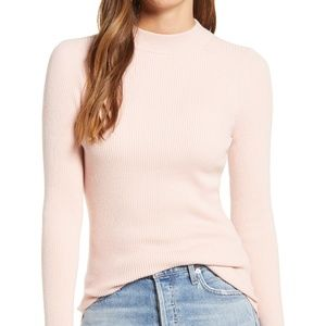 Nordstrom | 100% Silk Semi Cropped Mock Turtleneck